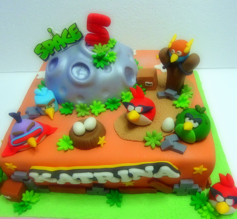 Angry Birds Cakes Decoration Ideas Little Birthday Cakes