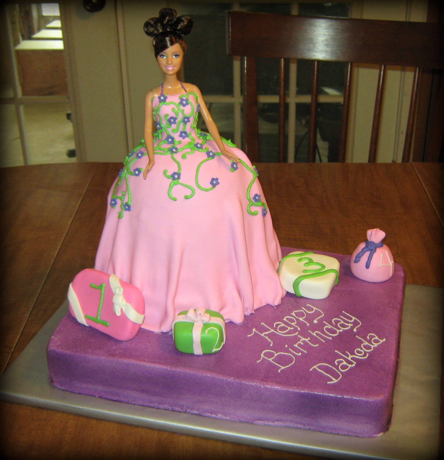 barbie girl cake design