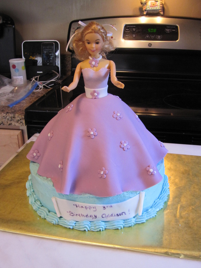 Barbie Fondant Cake Topper