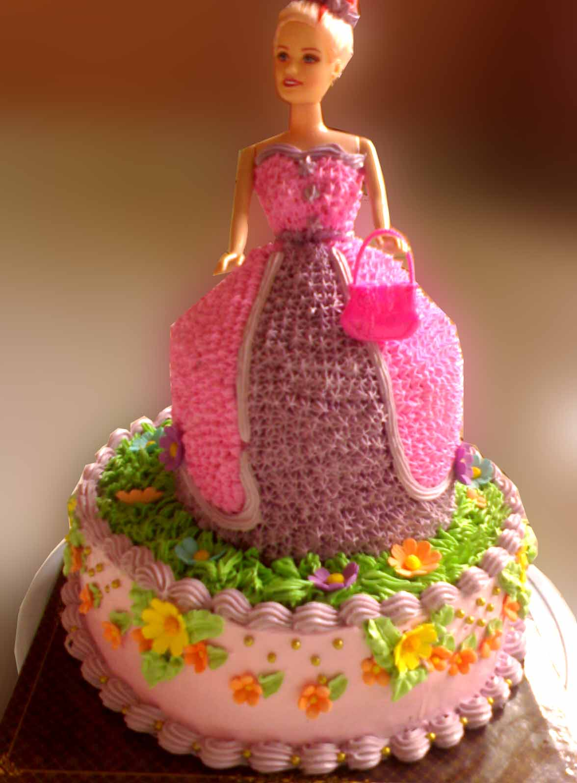 Doll Wedding Dress Cake