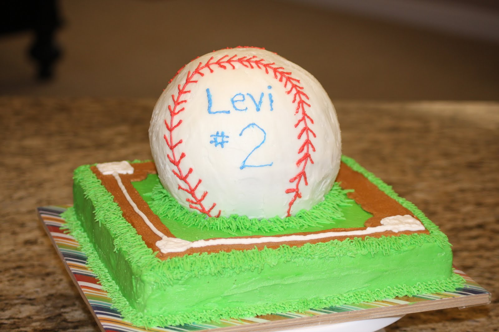 How To Make A Baseball Diamond Cake