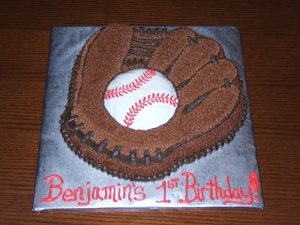 Baseball Birthday Cake Toppers