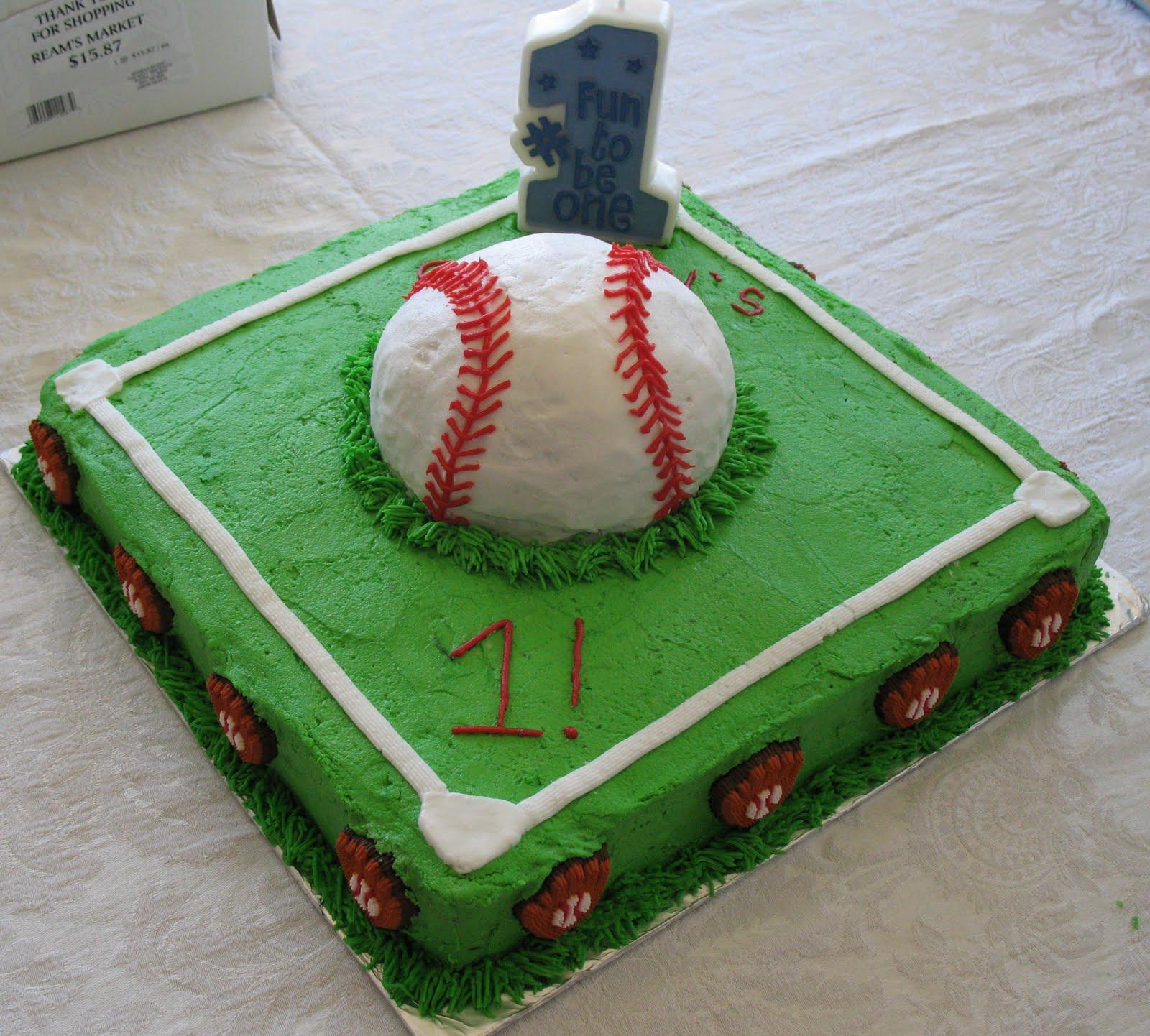 Baseball Birthday Cake Designs