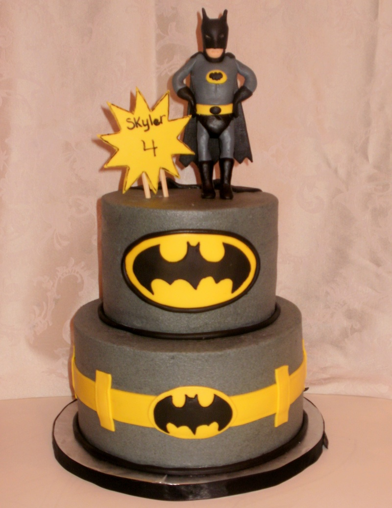 Batman Fondant Cake Design
