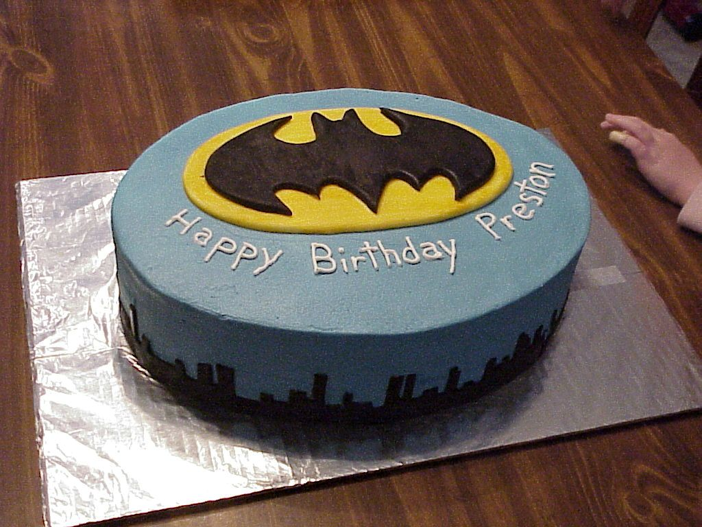 Batman Logo Birthday Cakes