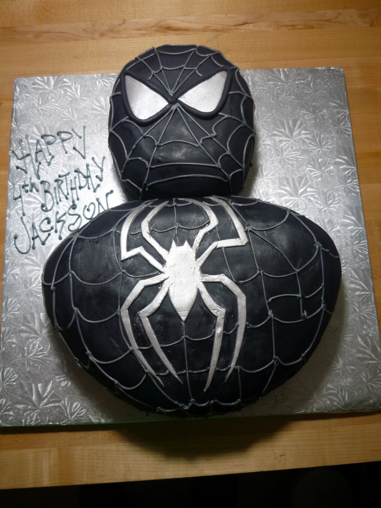 Black Spiderman Cake