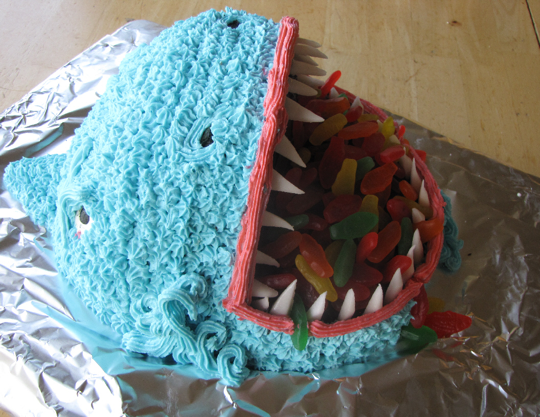 Open Mouth Shark Cake