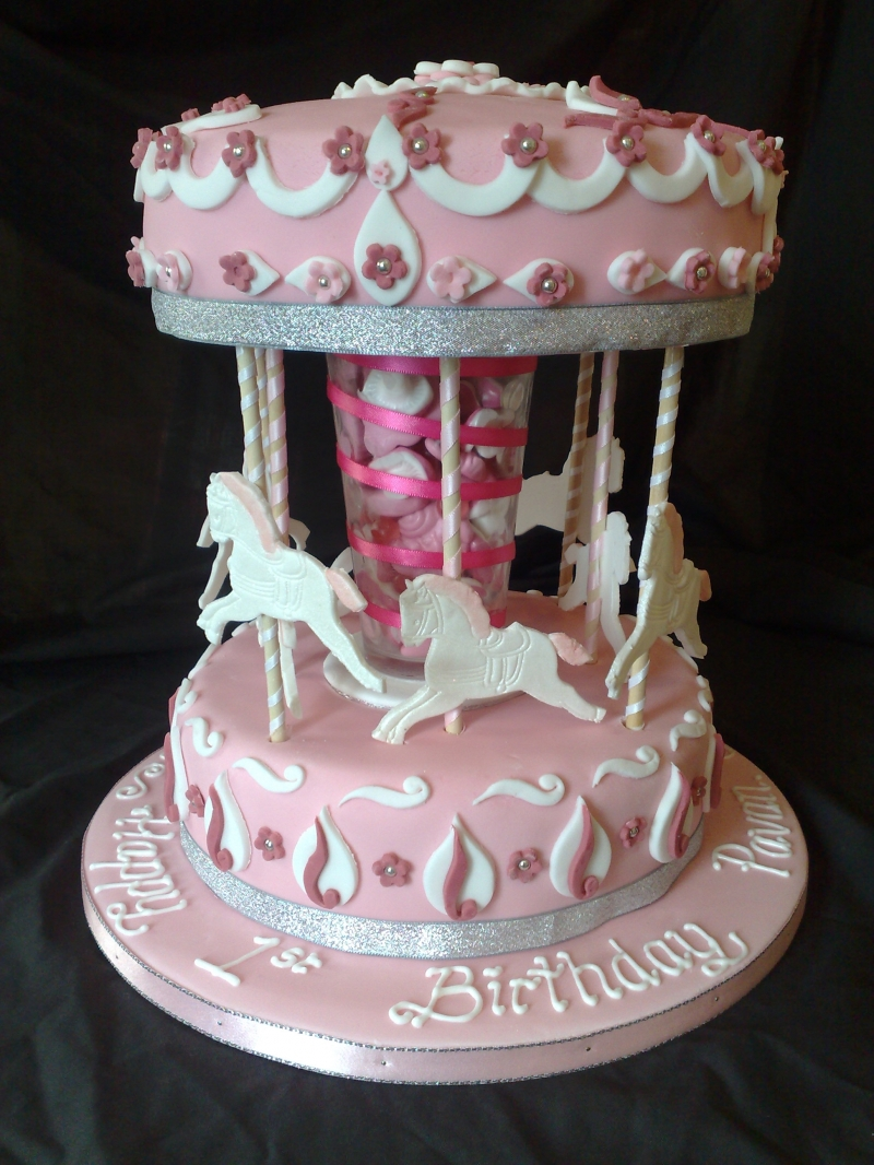 Carousel cakes decoration ideas little birthday cakes for Anniversary cake decoration