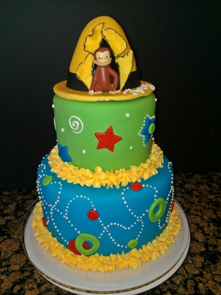 Curious George Birthday Cake Toppers