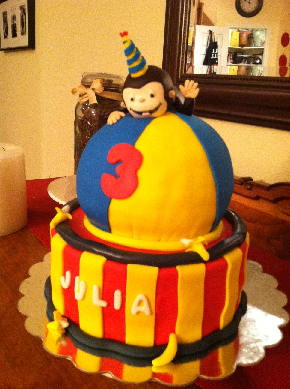 Curious George Cake Topper Edible images