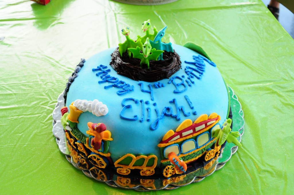 Dinosaur Train Birthday Cake