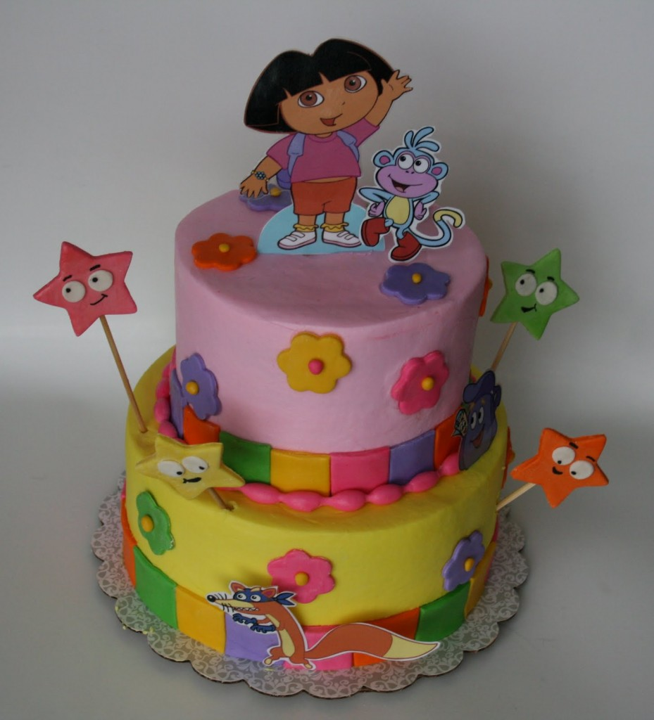 Dora Birthday Wall Decoration : Dora cakes decoration ideas little birthday