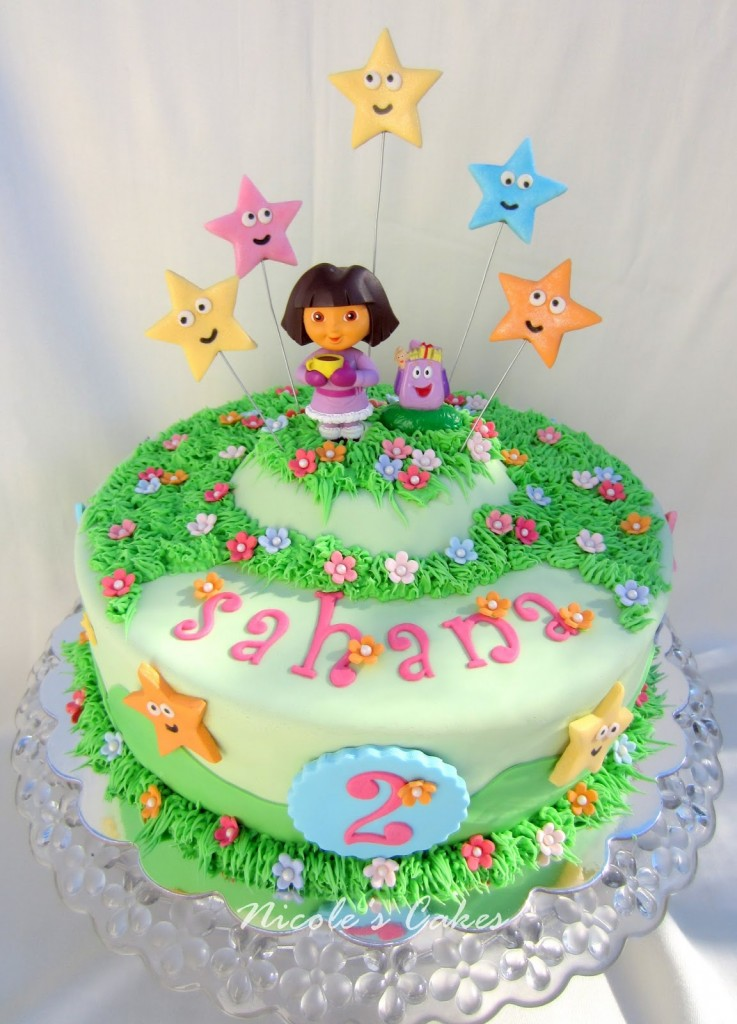 Ideas For Birthday Cake Toppers : Dora Cakes   Decoration Ideas Little Birthday Cakes