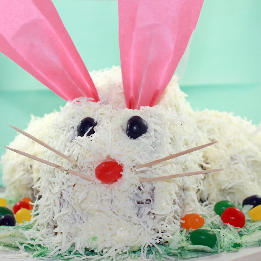 Easter Bunny Cake Decorating