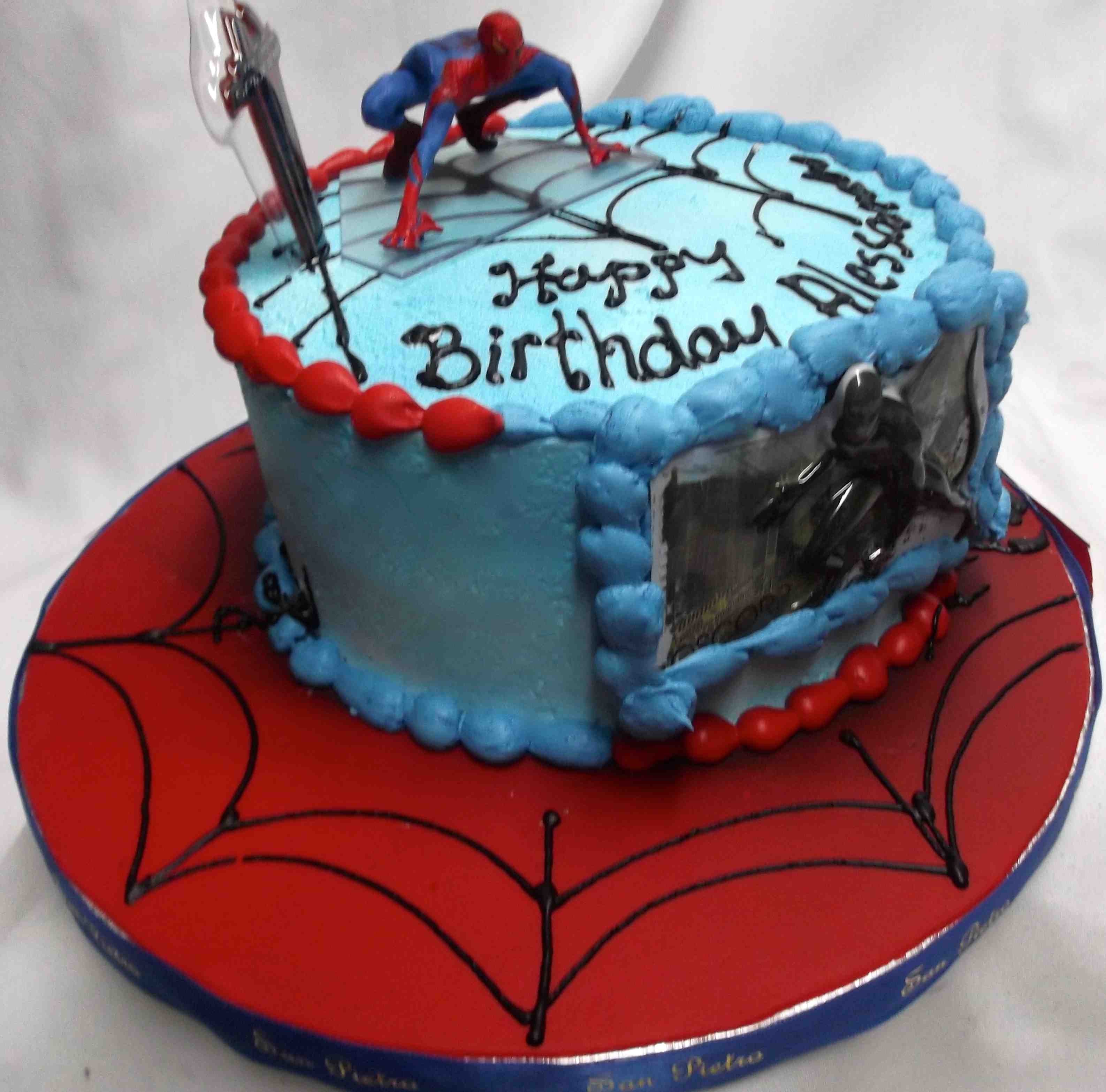 Black spiderman cakes - photo#24