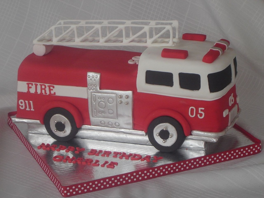 Fire Truck Cake Decorations