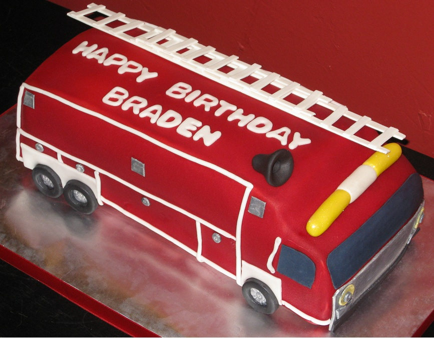 Fire Truck Birthday Cake Designs