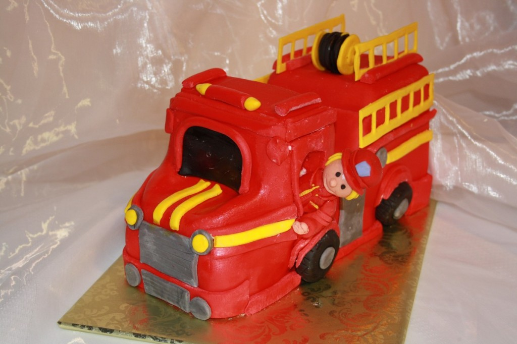 Fire Truck Cake Photos