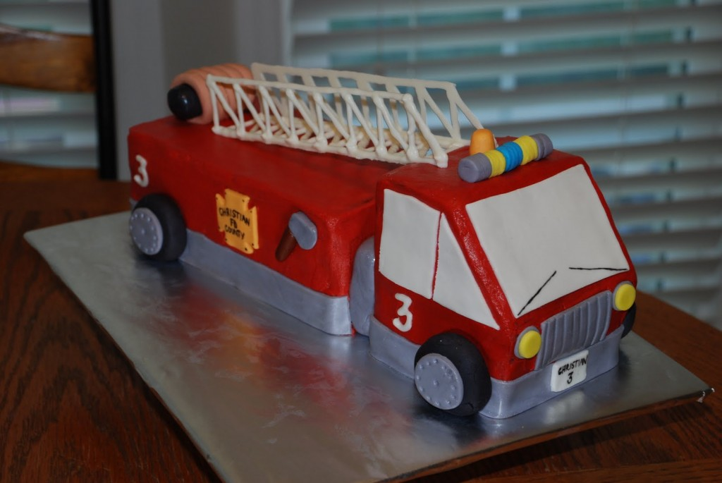 Fire Truck Cakes Photos