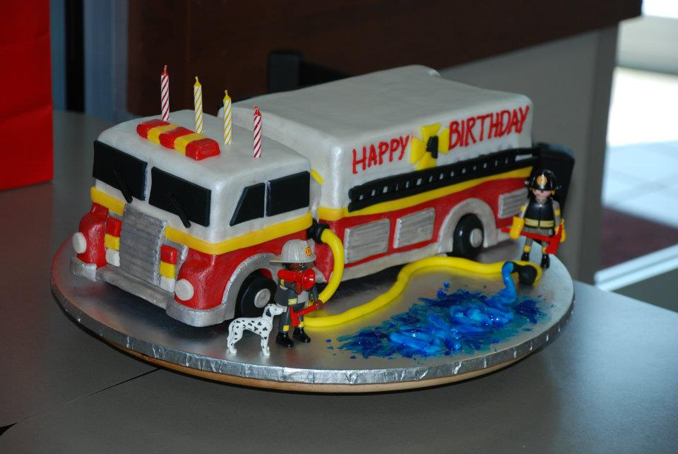 Fire Truck Cakes Pictures