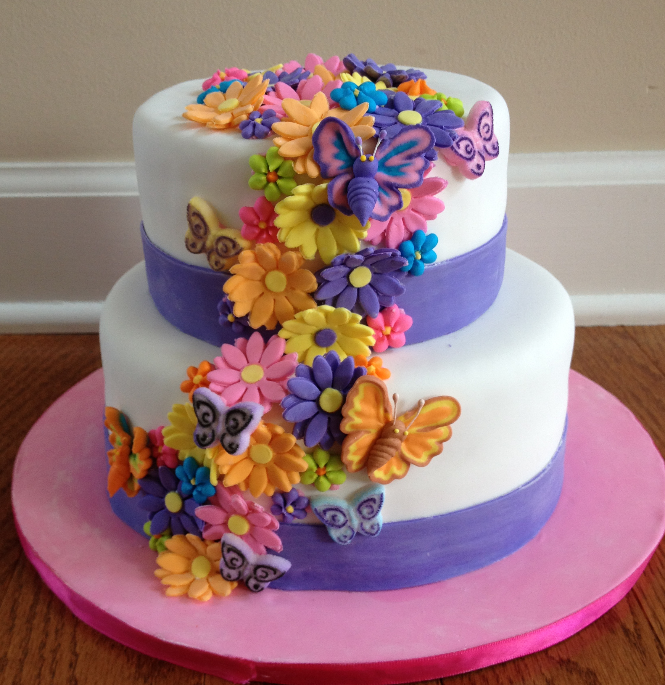 Flower cakes decoration ideas little birthday cakes flower cake izmirmasajfo