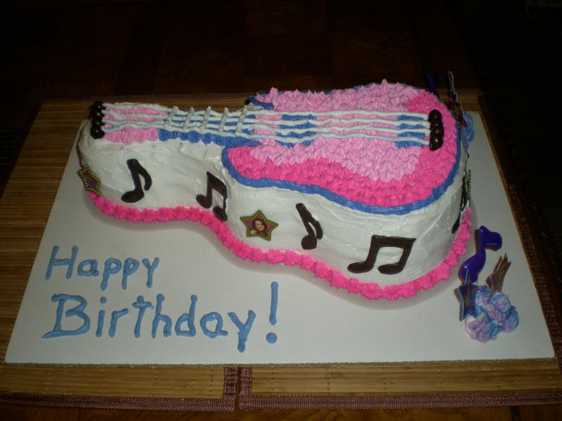 Cake Designs Guitar : Guitar Cakes   Decoration Ideas Little Birthday Cakes