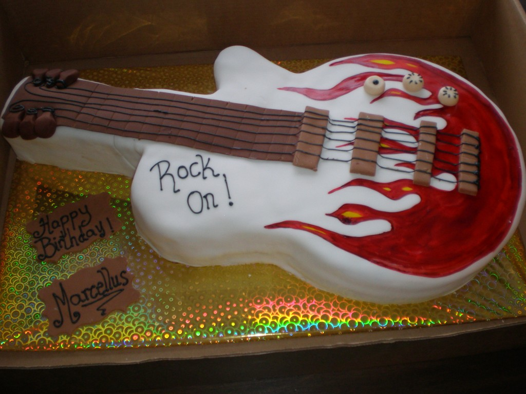 Guitar Cakes Photos
