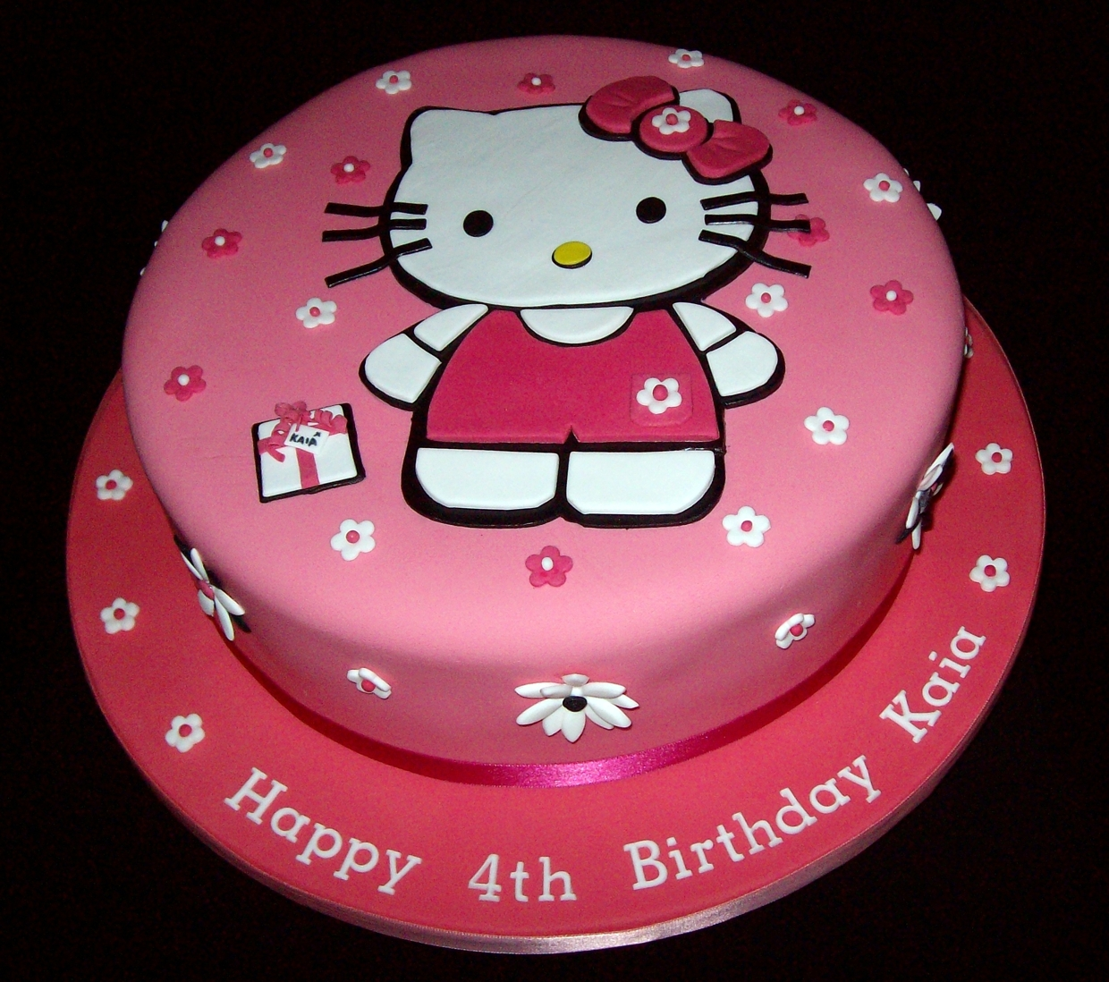 Make D Hello Kitty Cake