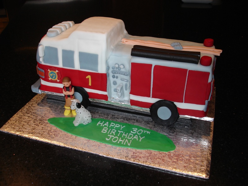 Images of Fire Truck Cakes