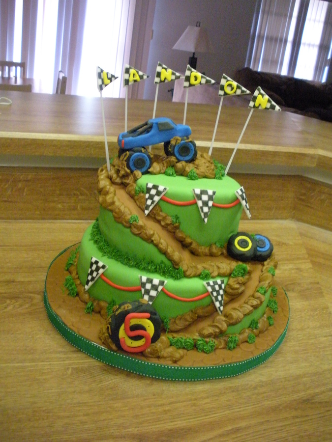 Monster Truck Cakes Decoration Ideas Little Birthday Cakes