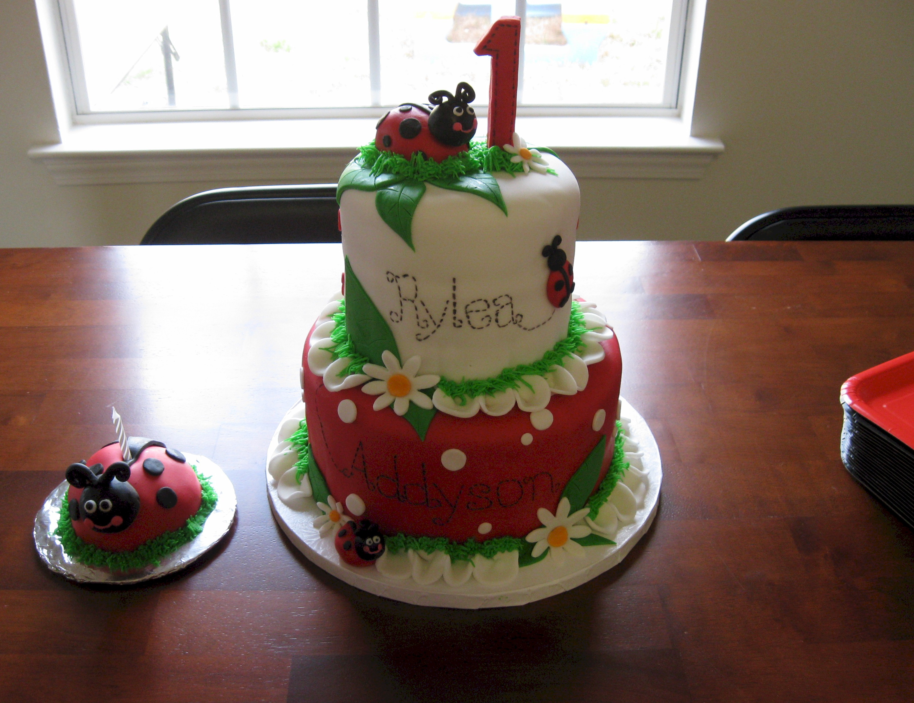 Ladybug Baby Shower Cake Designs
