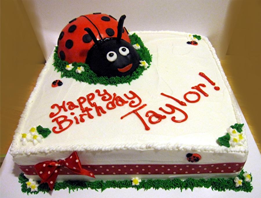 Ladybug Diaper Cakes