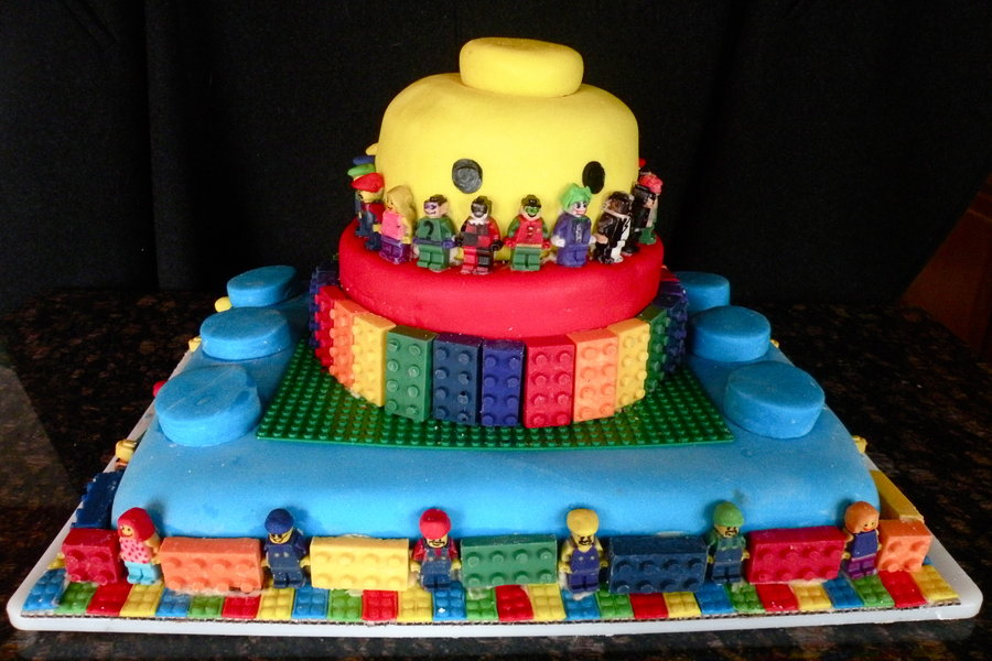 Lego Themed Birthday Cakes