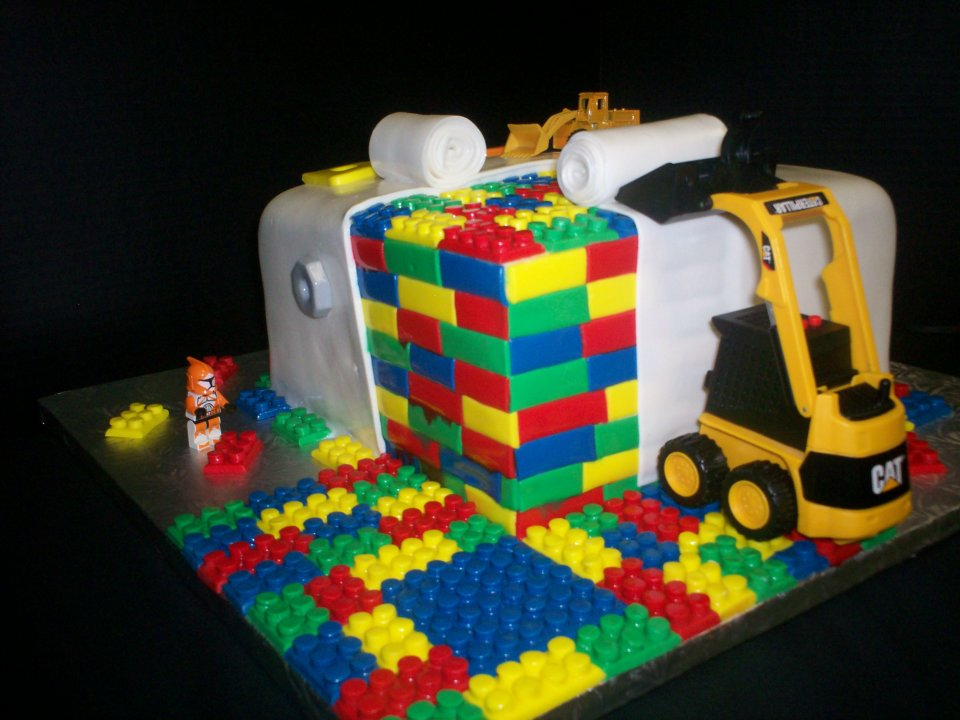 Lego Cake With Buttercream Frosting