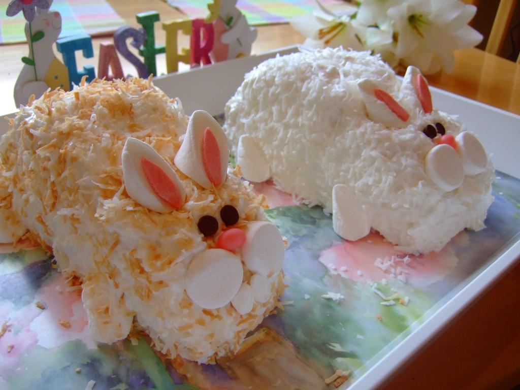 Make Easter Bunny Cake