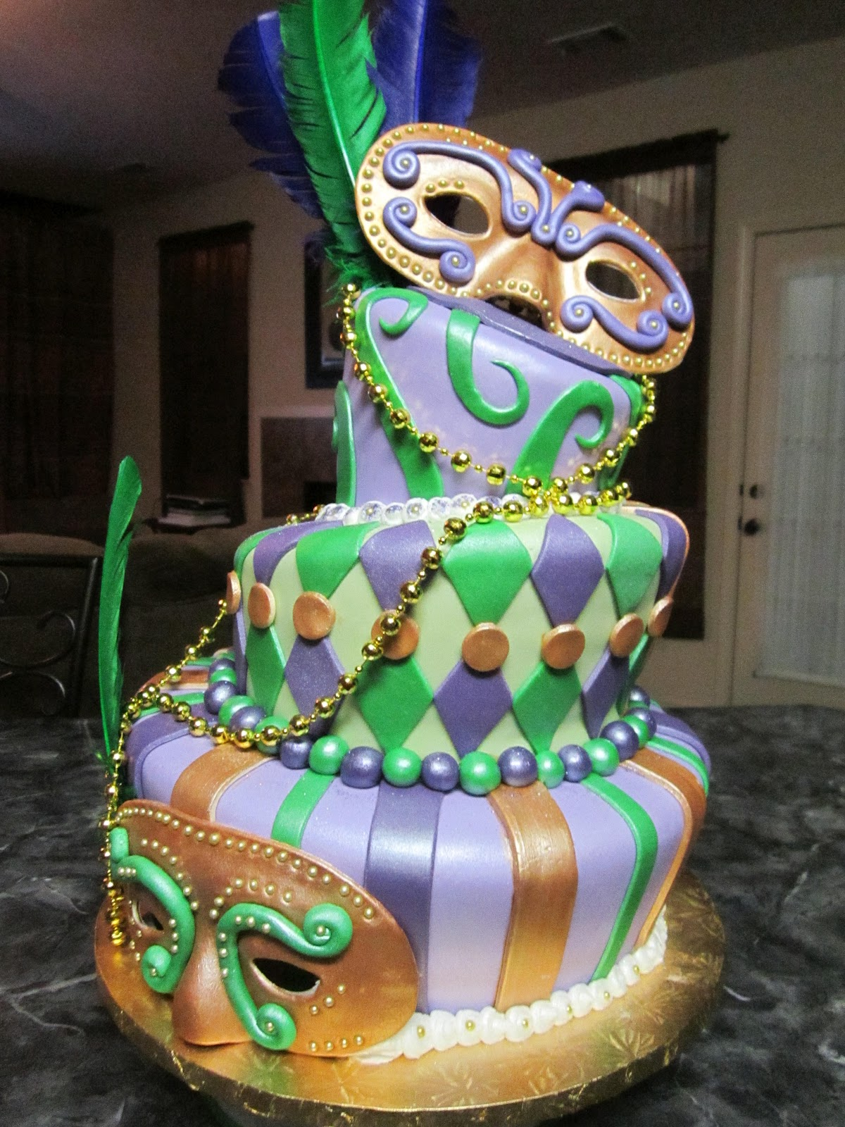 Mardi Gras Cakes Decoration Ideas Little Birthday Cakes