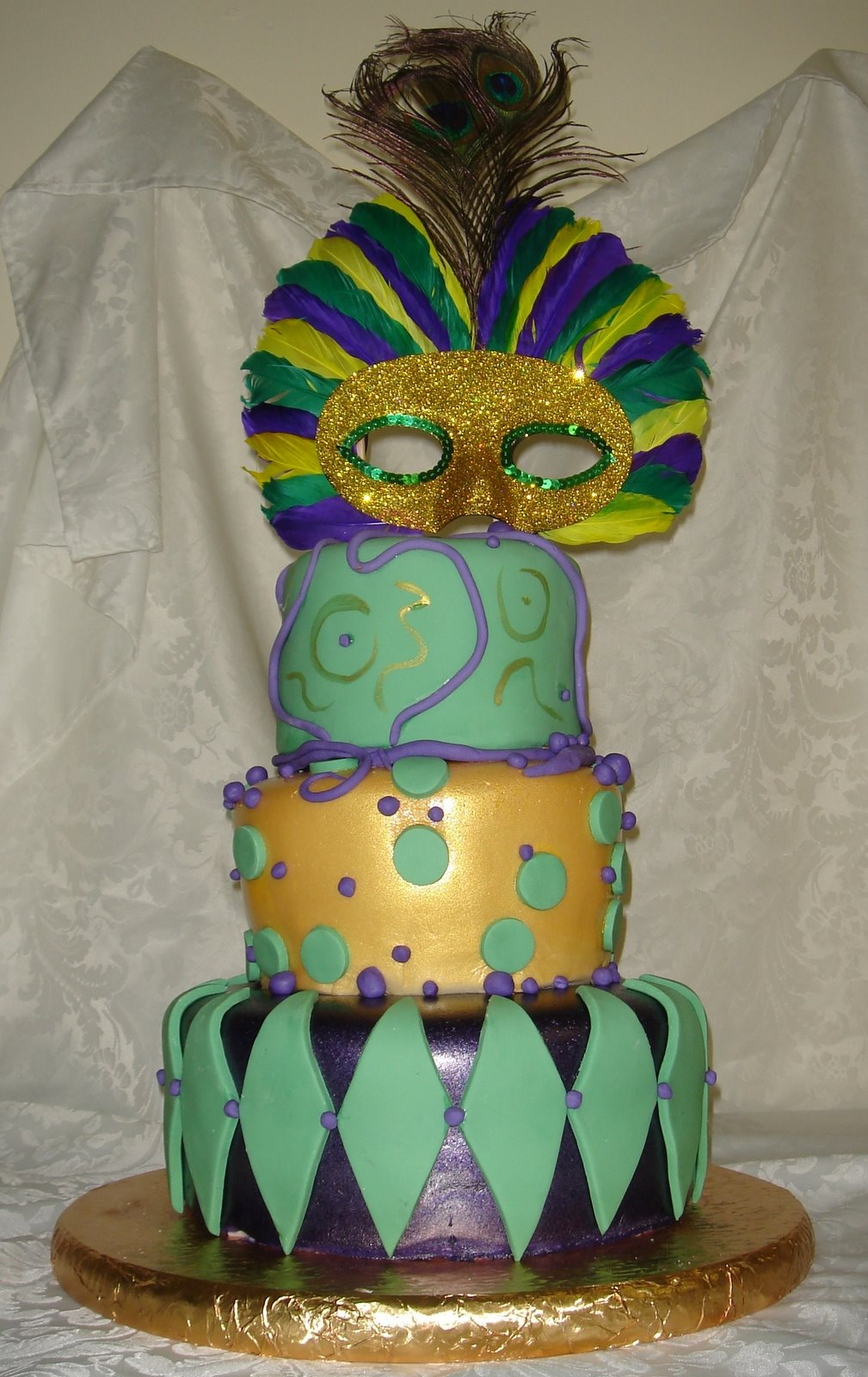mardi gra cake ideas