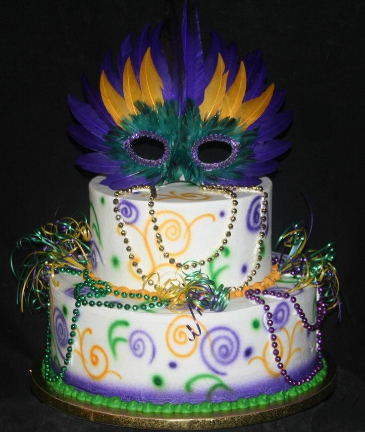 Cake Decorating Ideas Mardi Gras