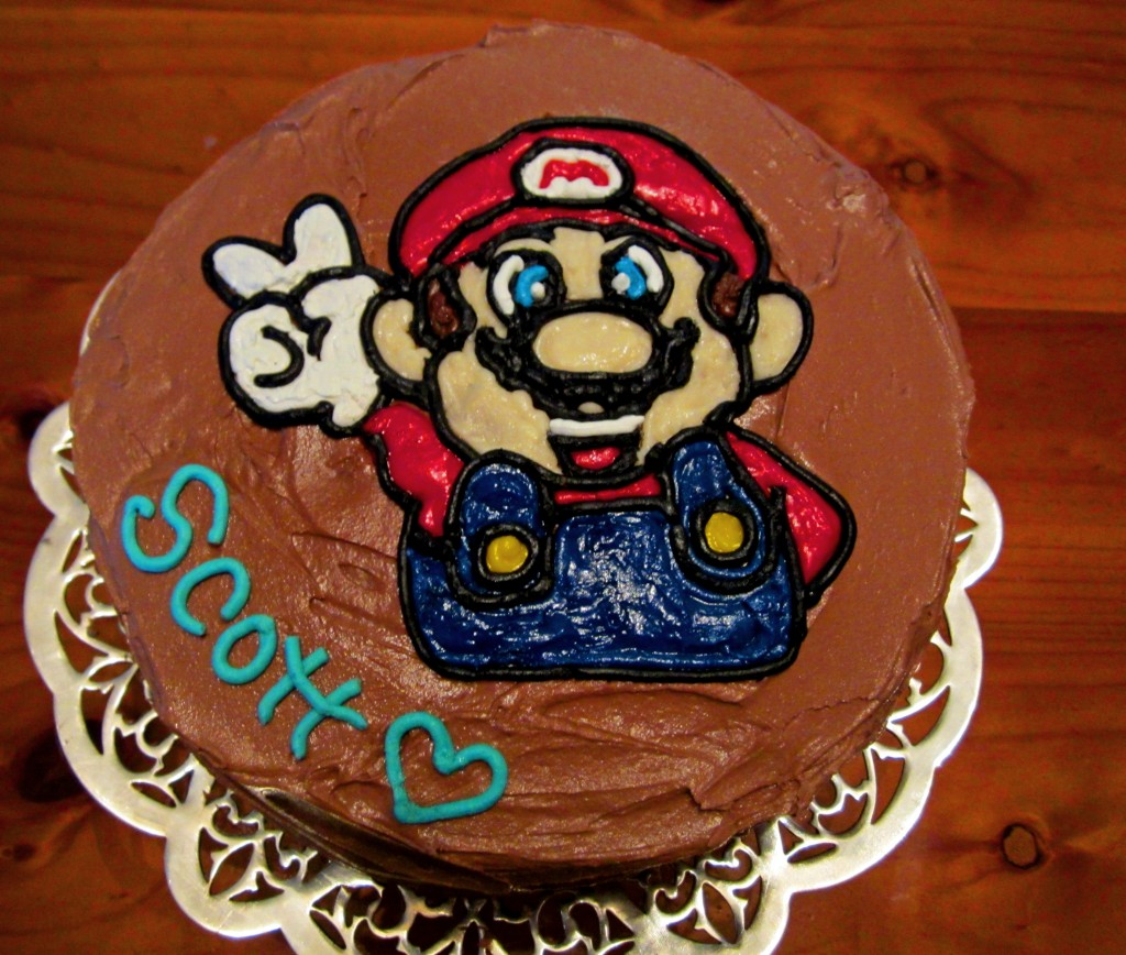 Mario Brothers Cake Decorations