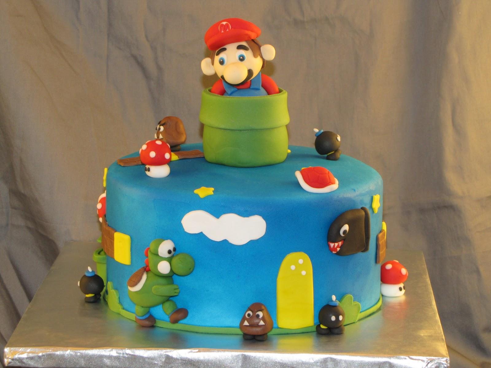 Mario Cakes Decoration Ideas Little Birthday Cakes