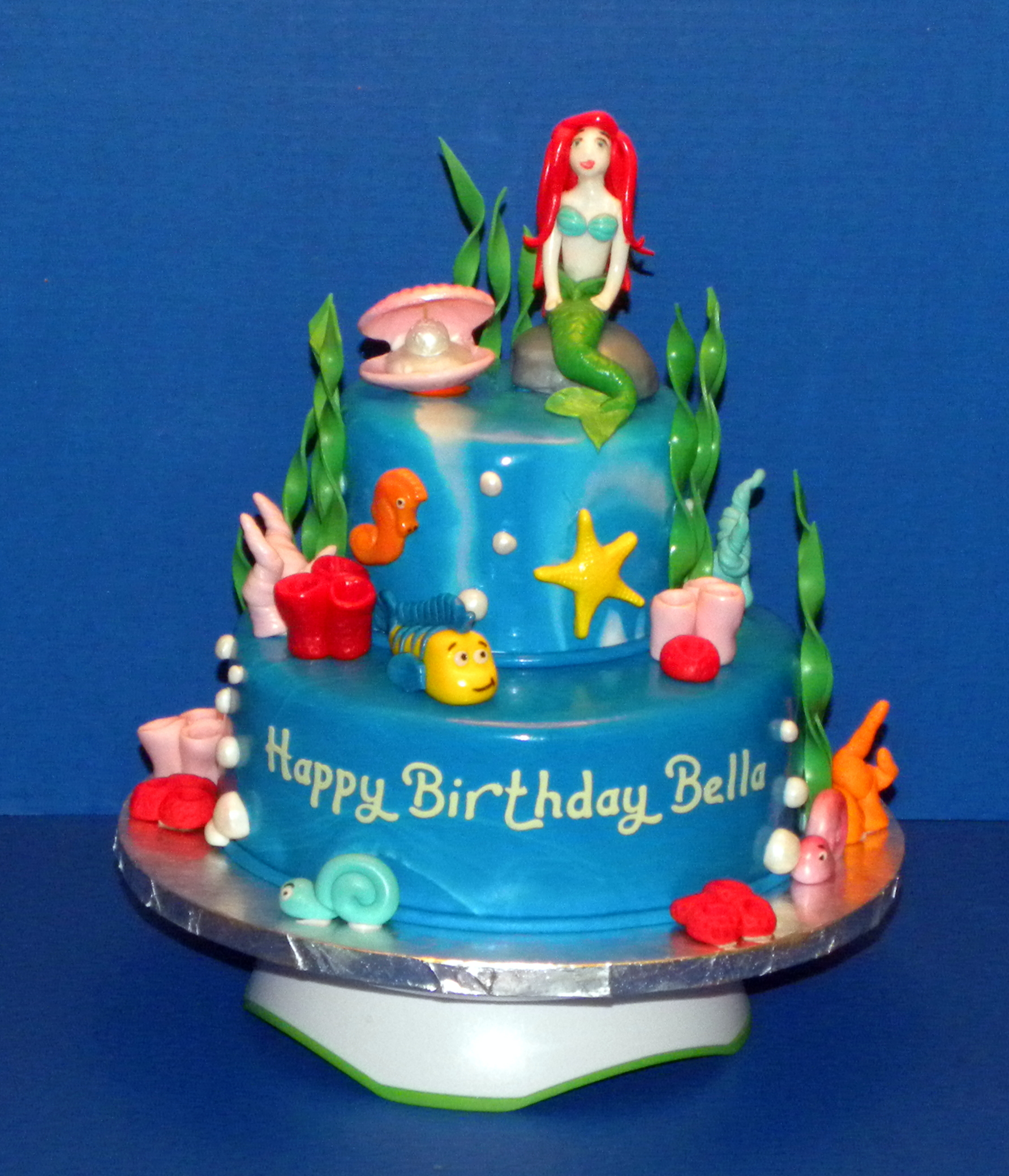 How To Make An Ariel Birthday Cake