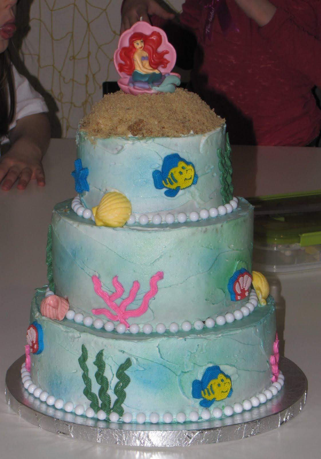 Ariel Mermaid Cake Designs