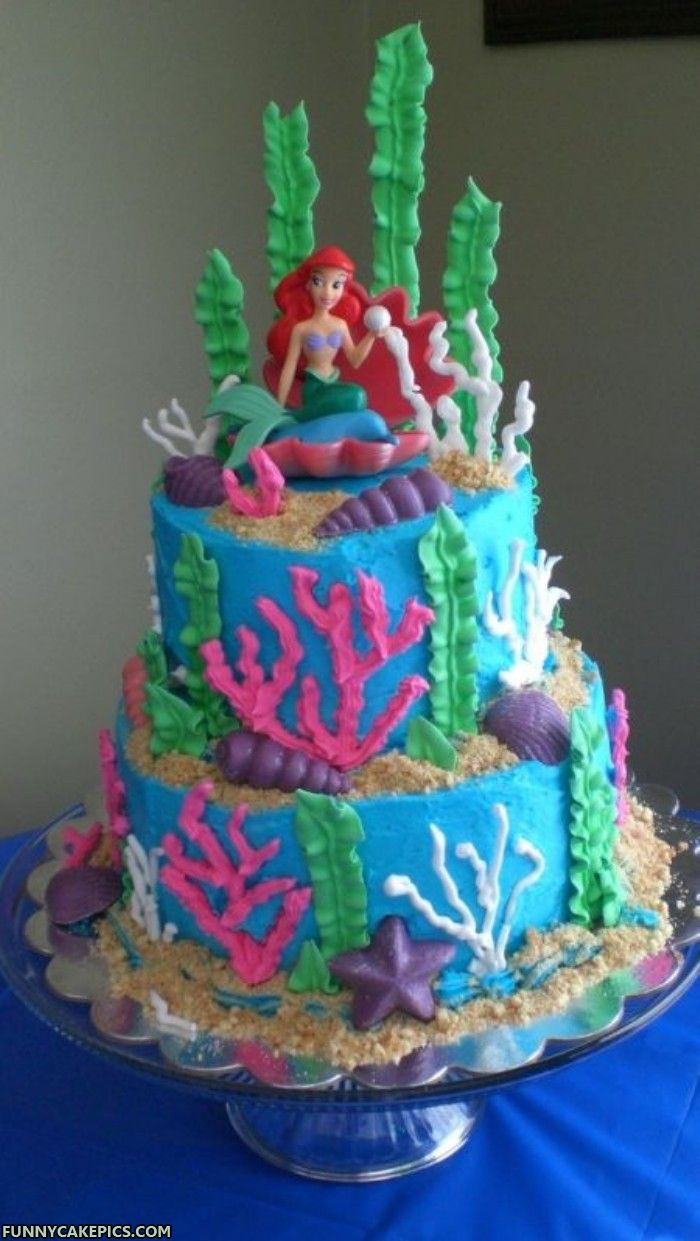 Mermaid Ariel Cake Ideas