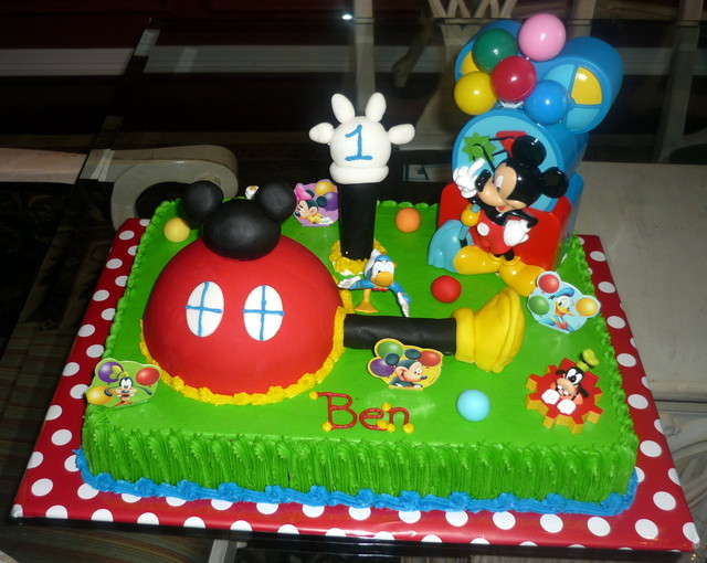Mickey Mouse Clubhouse Birthday Sheet Cake