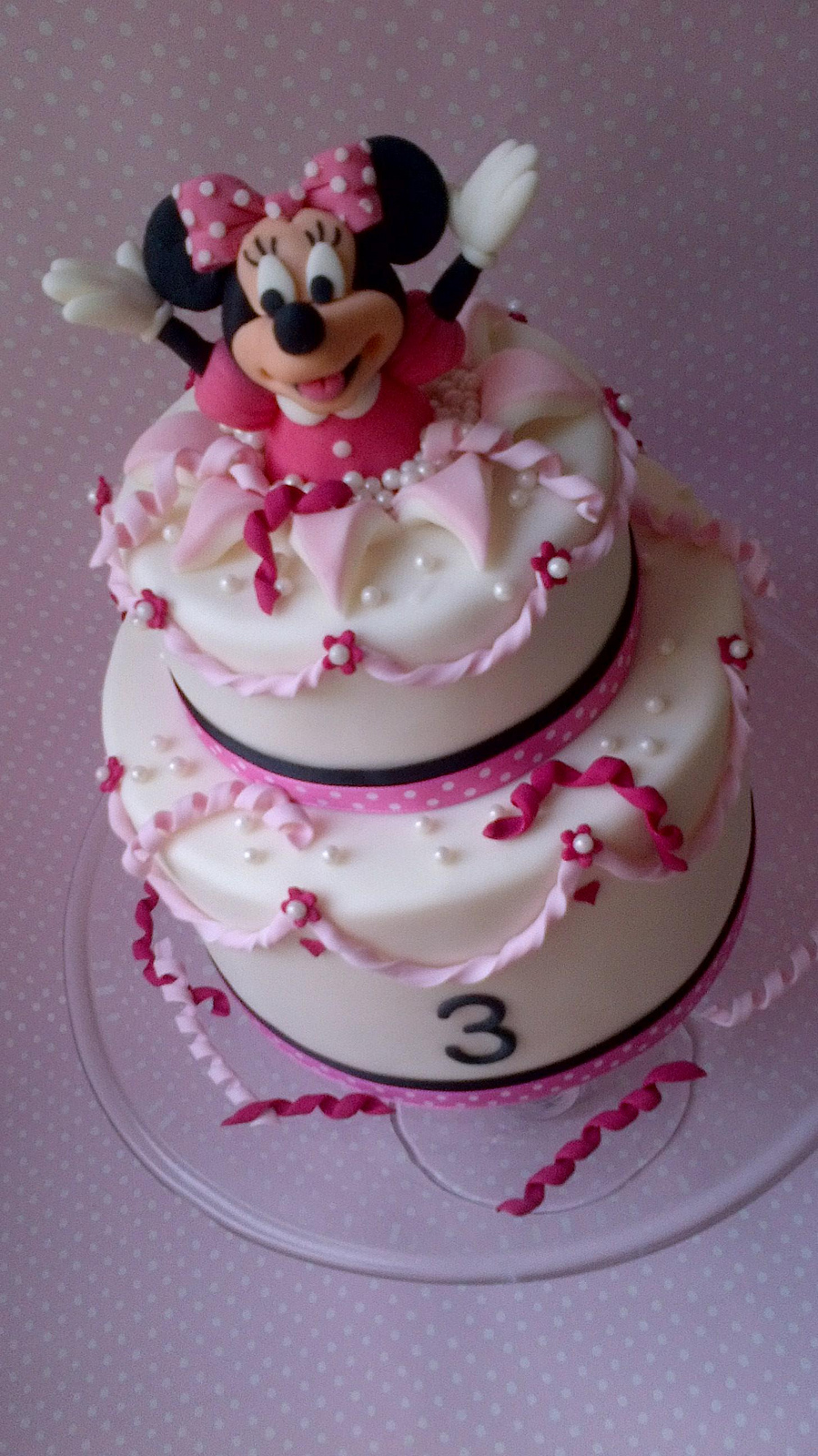 Minnie Mouse Head Cake Topper
