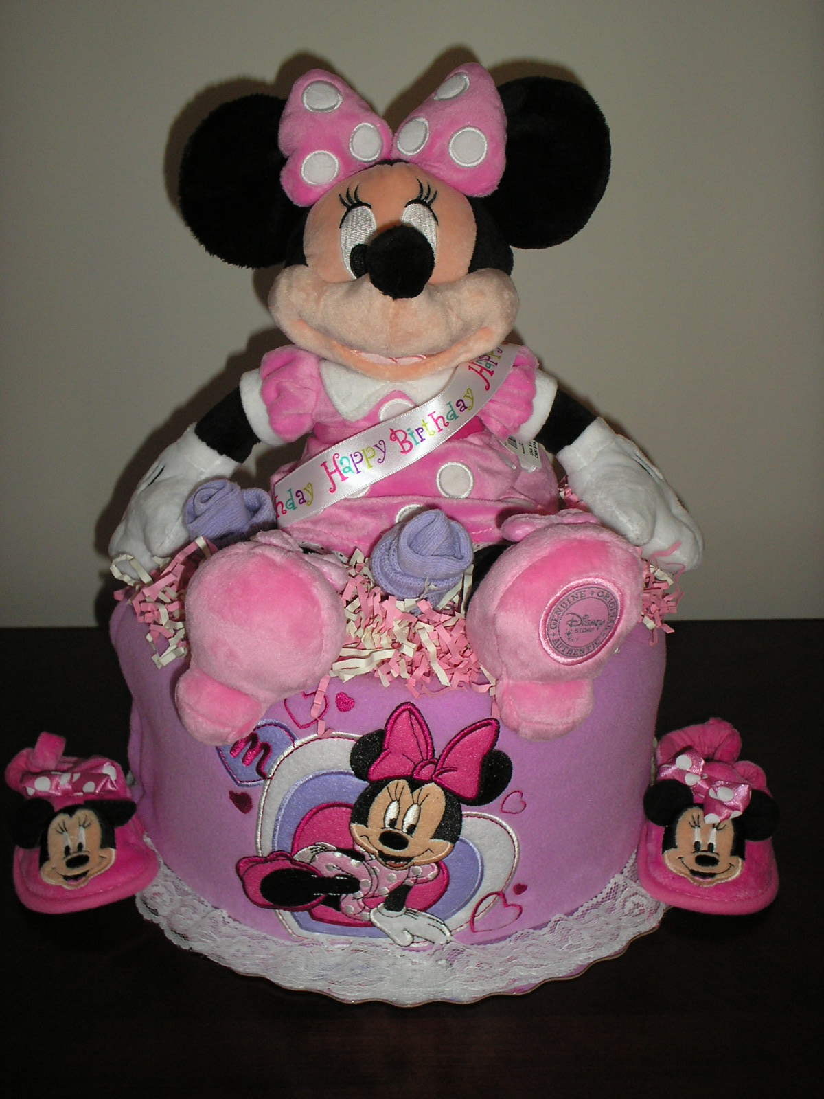 Purple Minnie Mouse Cake Topper