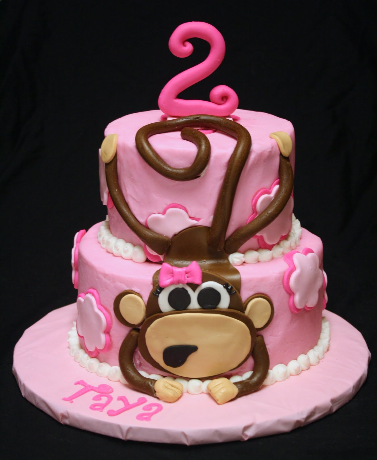 Girl Monkey Cake Ideas