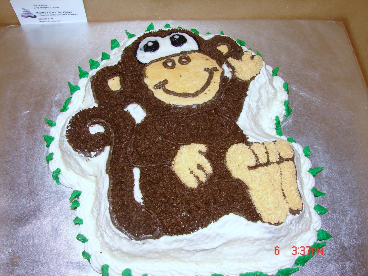 Monkey Cake Template Topsimages