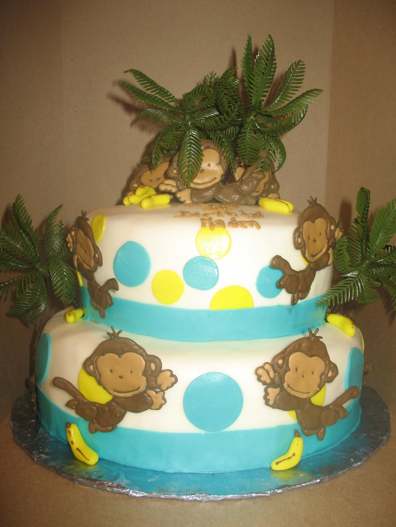 Birthday Cake Ideas Monkey : Monkey Cakes   Decoration Ideas Little Birthday Cakes