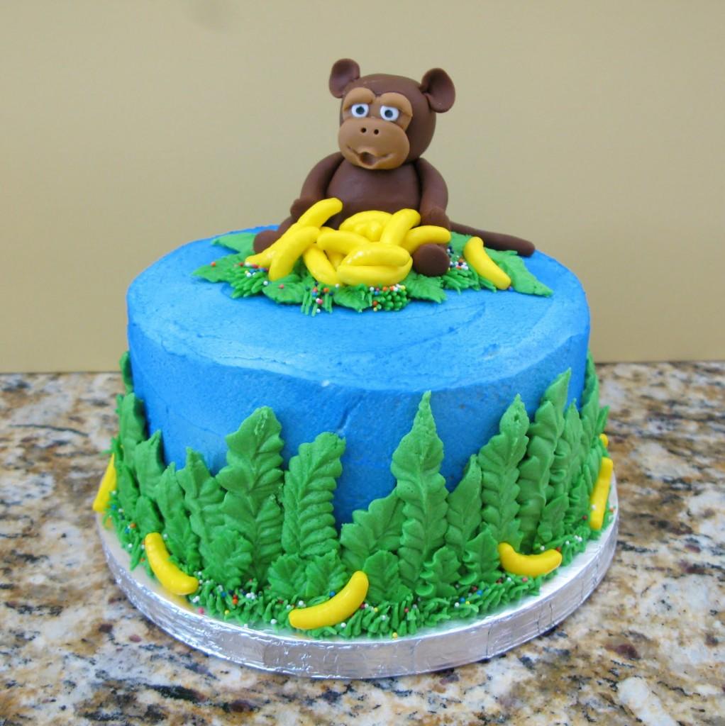 Monkey Cakes Decoration Ideas Little Birthday Cakes